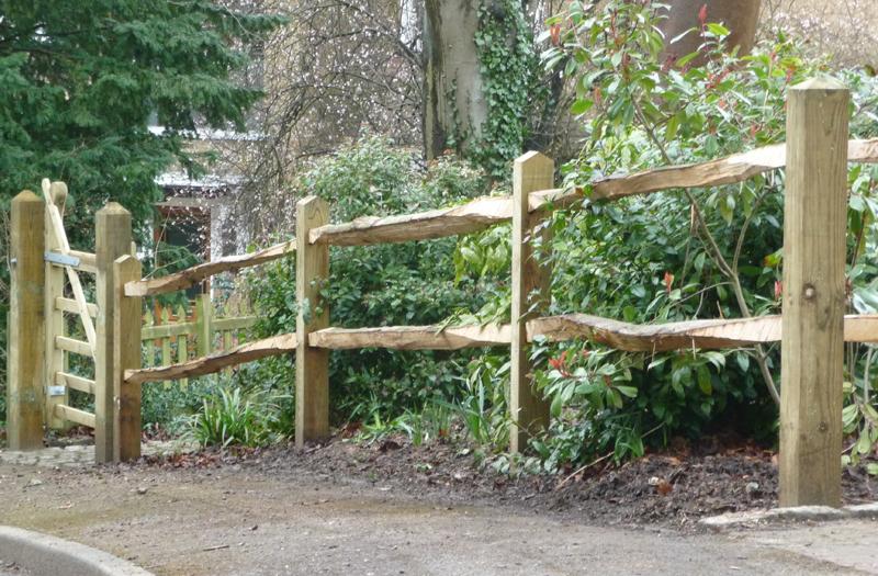 Post rail fencing in surrey caterham